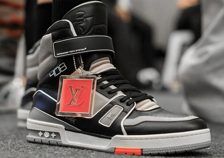 9982326506c0 Virgil Abloh s Louis Vuitton Sneaker Spotted All Over Paris Fashion Week