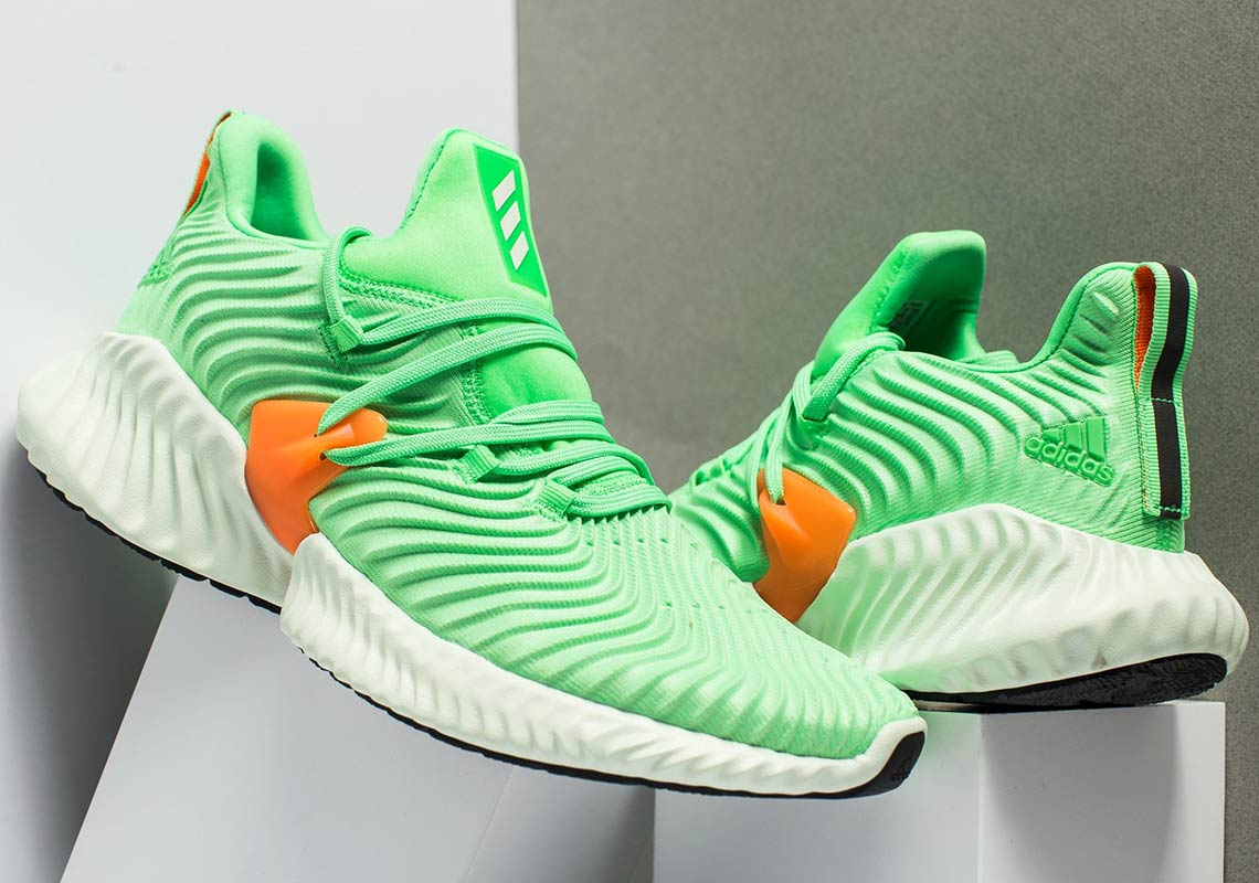hot sale online b00f7 237f3 adidas Alphabounce Instinct AVAILABLE AT Foot Locker 120. Color Shock Lime Aero GreenHi-Res Orange