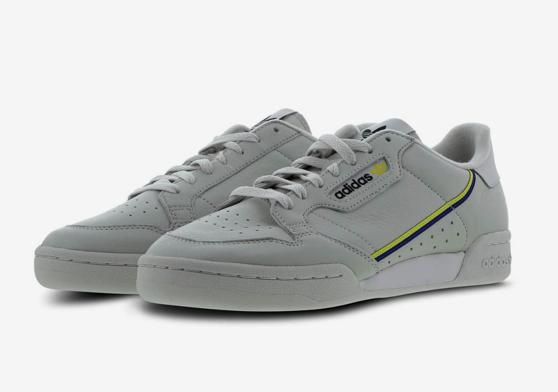 9d34456dfd63 The adidas Continental 80 Returns In A Grey And Yellow