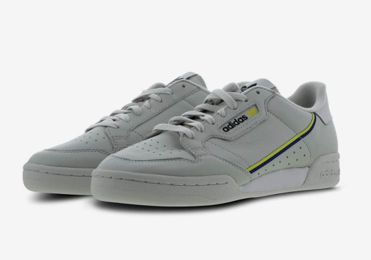 The adidas Continental 80 Returns In A Grey And Yellow