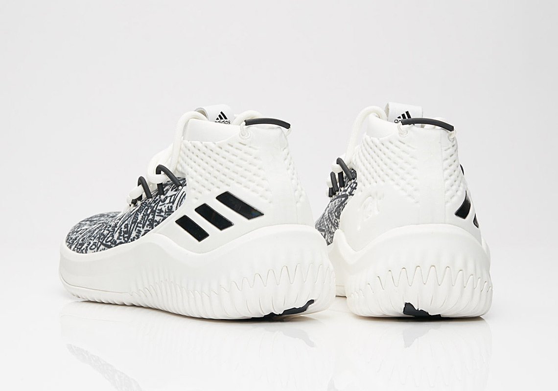 adidas Dame 4. AVAILABLE AT SNS  120. Color  Cloud White Crystal White Core  Black Style Code  AQ0597. show comments 1407bac45