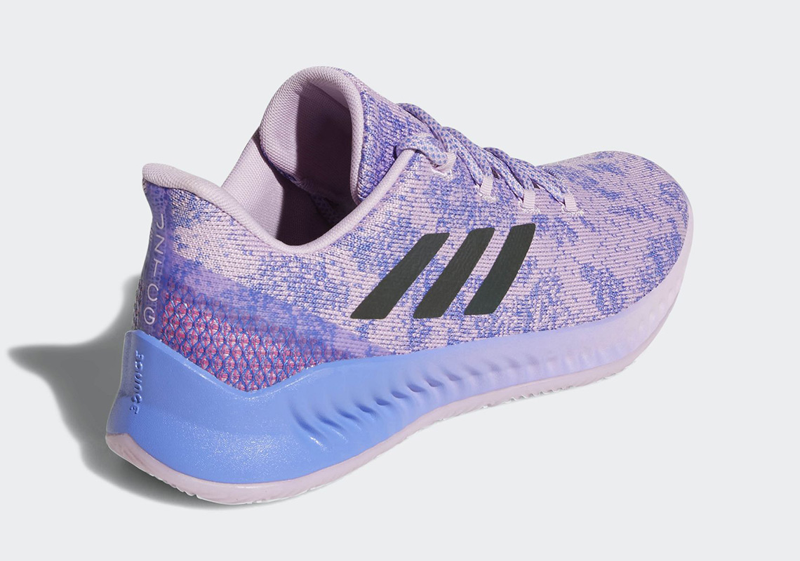 new products 94e52 c7af4 ... coupon code for james hardens lower priced adidas shoe just dropped in  clear lilac dc550 3135f