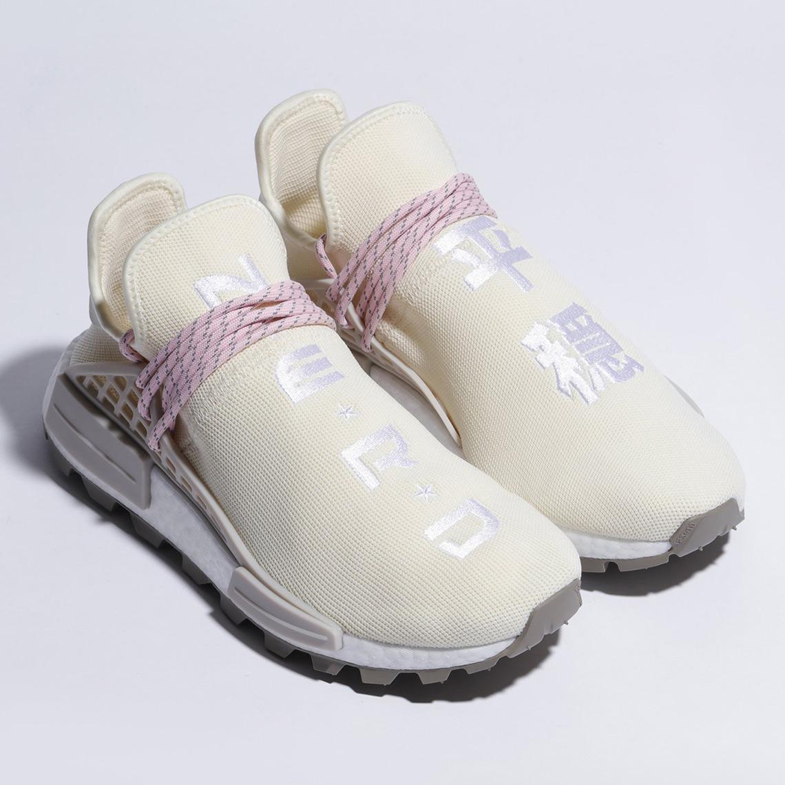 118b84d2a Pharrell adidas NMD Hu NERD Cream White Pink EE8102
