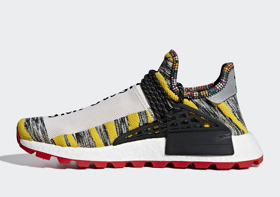 5665f75ed Pharrell adidas NMD Hu Solar Pack Release Date