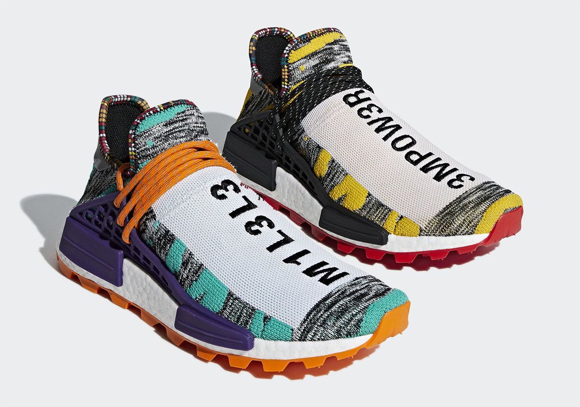"b16d6c465 Pharrell x adidas NMD Hu ""Solar Pack"" Releases On August 18th"