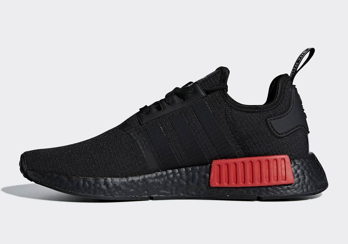 adidas NMD R1 Black + Red B37618
