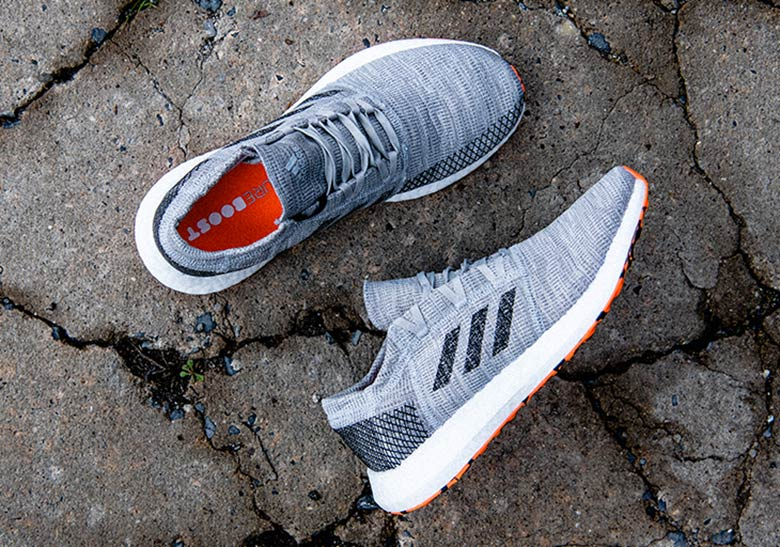 low priced 15418 98ac1 adidas PureBoost Go (Mens) Release Date July 19, 2018. COMING SOON TO  adidas 120. Color GreyCore BlackHi-Res Orange