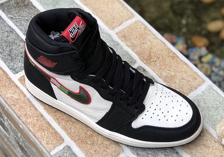 "d57fe2952801c4 Air Jordan 1 Retro High OG ""A Star Is Born""  160. Color   Black Sail-University Red Style Code  555088-015. Advertisement"