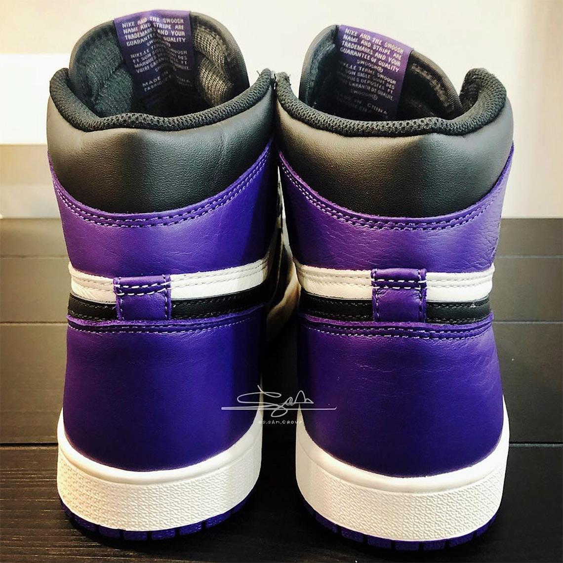 uk availability a864b 06f59 Air Jordan 1 Retro High OG Court Purple Release 555088-501 ...