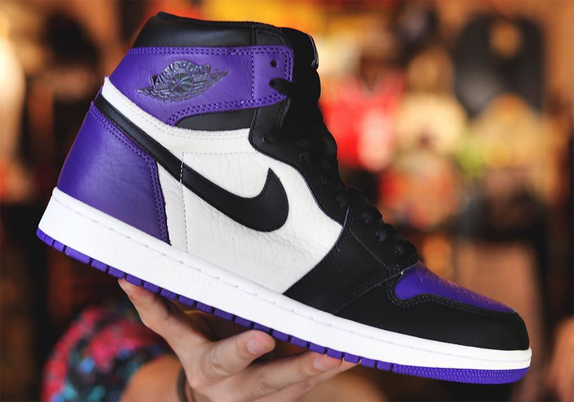 b5455cab234 Air Jordan 1 Retro High OG Court Purple Release 555088-501 Info ...