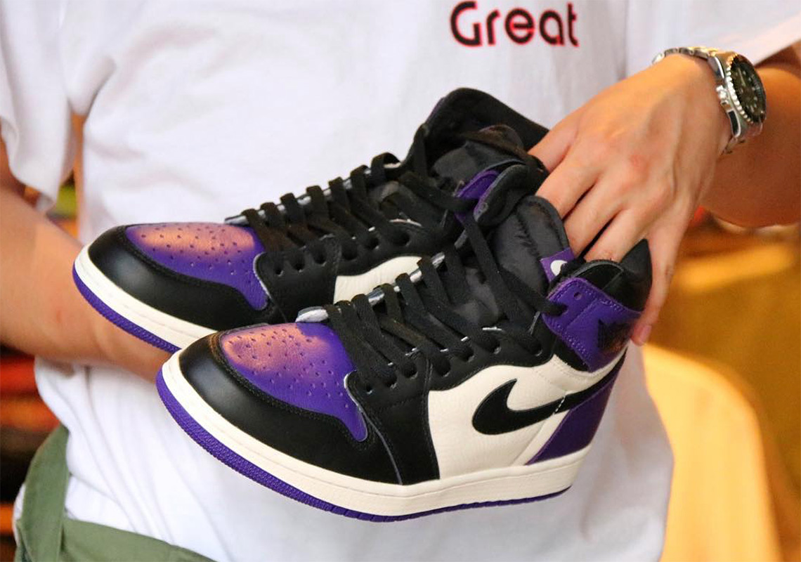 af8ecbdb65da5e Air Jordan 1 Retro High OG Court Purple Release 555088-501 Info ...