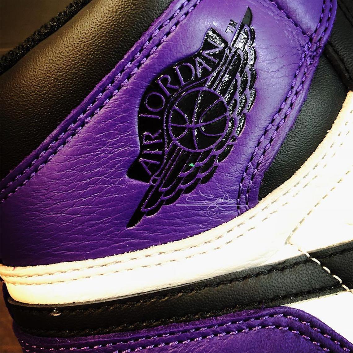 huge discount 1324e e680d Air Jordan 1 Retro High OG Court Purple Release 555088-501 Info ...