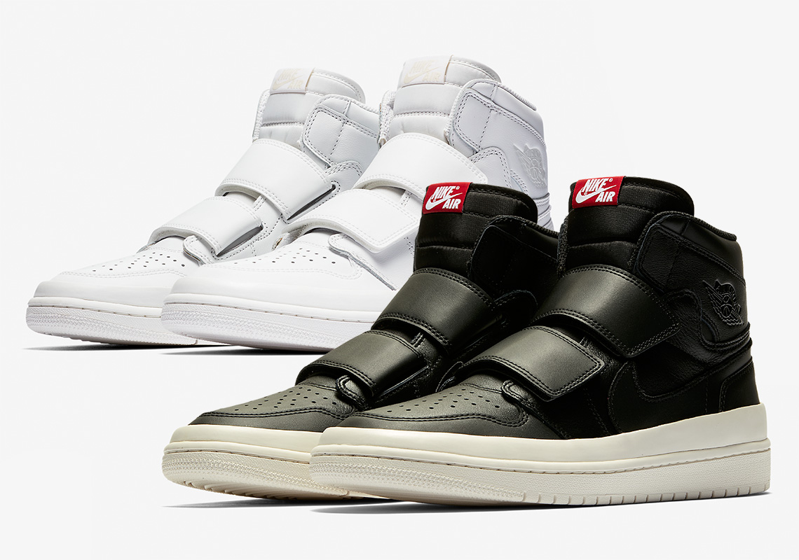 1571965d1818a3 The Air Jordan 1 High Double Strap Arrives In Black And White Options