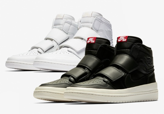The Air Jordan 1 High Double Strap Arrives In Black And White Options