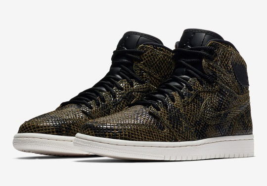 "Air Jordan 1 Retro High ""Snakeskin"" For Women Is Available Now"