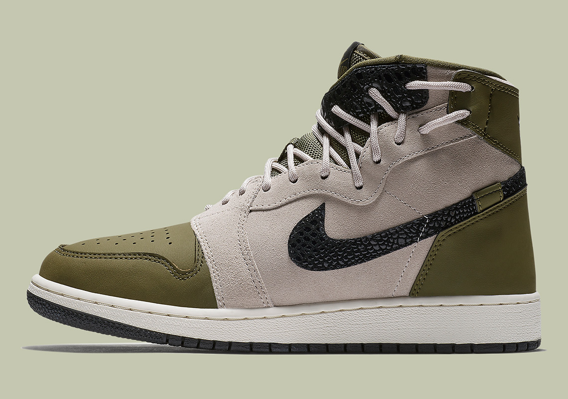 f6940870f6a Air Jordan 1 Rebel XX Available Now on Nike.com  145. Color  Olive Canvas Moon  Particle Black Style Code  AR5599-300