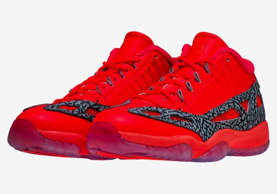 "The Air Jordan 11 Low IE Returns In ""Flash Crimson"""