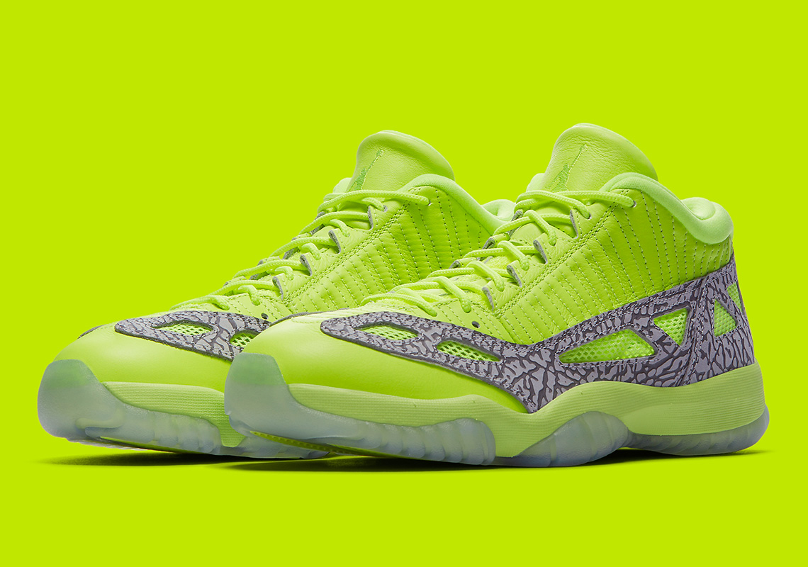 d0f31535fb2 Jordan 11 Low IE Highlighter Volt - Where To Buy | SneakerNews.com