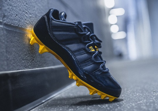 Michigan Football Reveals Air Jordan 11 Cleat PEs For 2018 Season