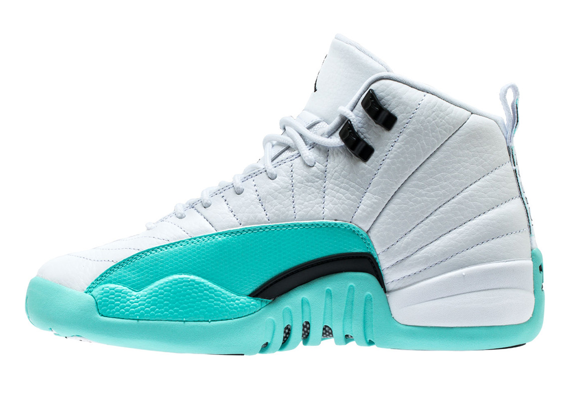 best sneakers fdf04 94927 Air Jordan 12 Grade School Light Aqua 510815-100 ...
