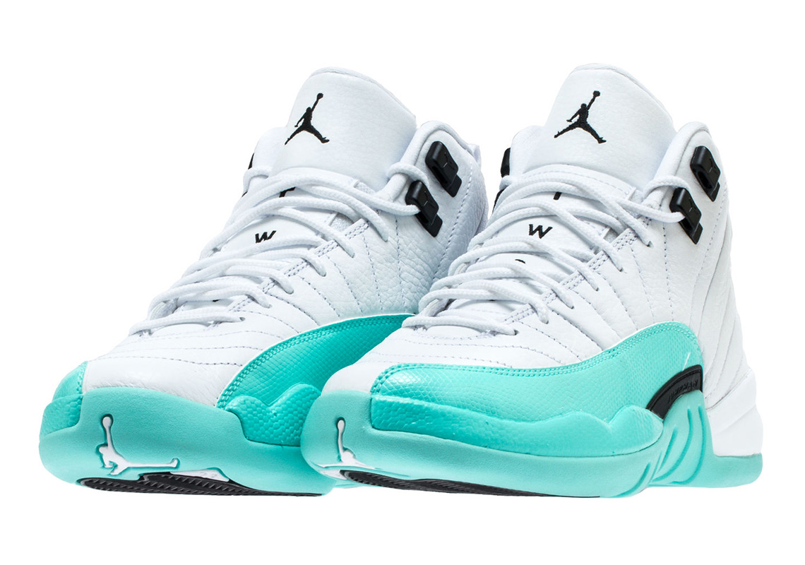 sports shoes 008c5 e1be8 Air Jordan 12 Grade School Light Aqua 510815-100 | SneakerNews.com