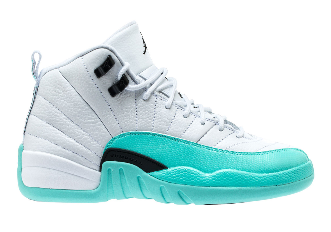 e26c99c985f Air Jordan 12 Grade School Light Aqua 510815-100