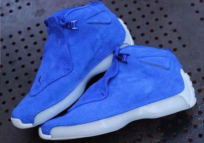 Air Jordan 18 Blue Suede Release Info