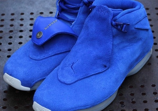 the latest a33bd 40323 The Air Jordan 18 Retro Is Coming In Blue Suede