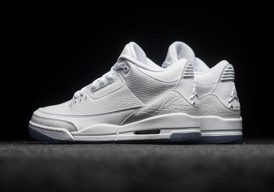 "Where To Buy The Air Jordan 3 ""Pure White"""