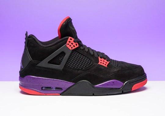 """Air Jordan 4 """"Raptors"""" Releases On August 18th"""