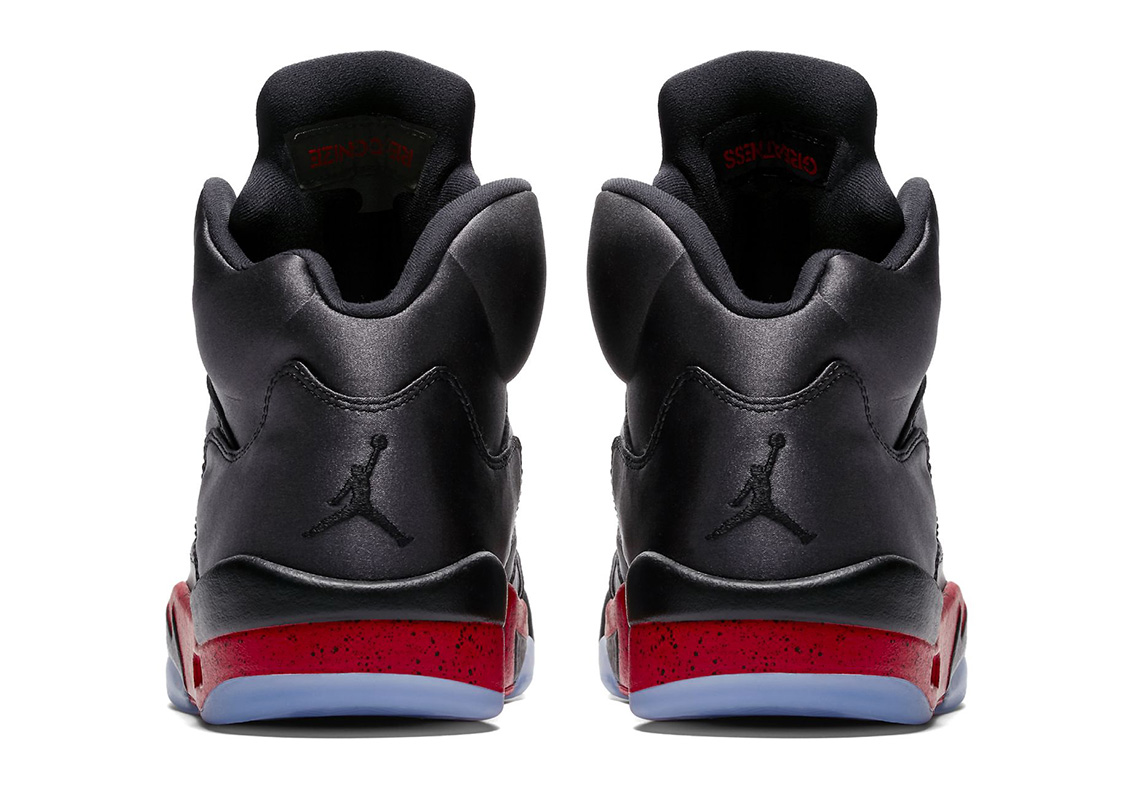 6996882e3042 Air Jordan 5 Satin Black Red 136027-006 Official Images ...