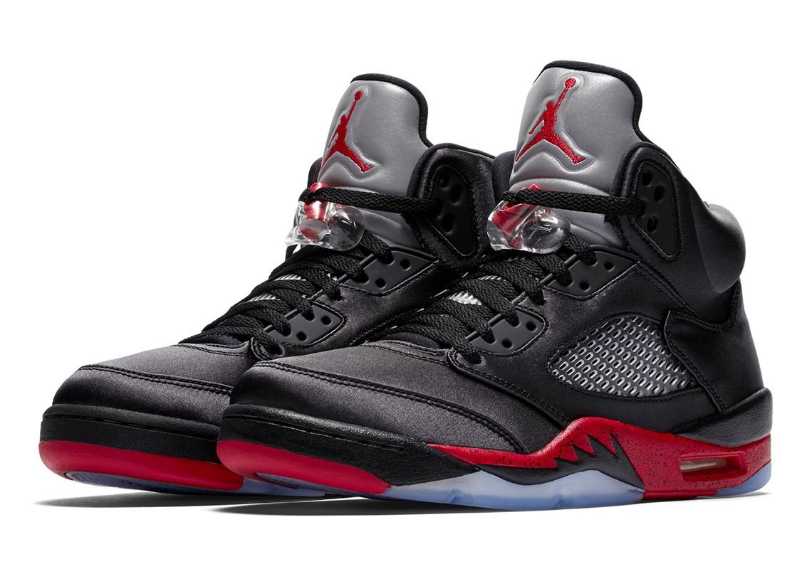 "baa2def57ed0 The Air Jordan 5 Satin Features ""Greatness"" And ""Recognize"" Messages"