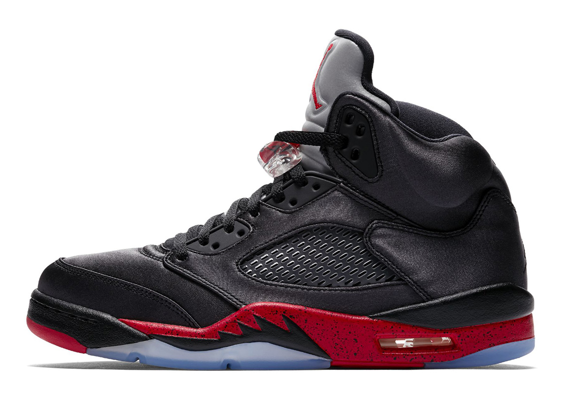 509941d911d Air Jordan 5 Satin Black Red 136027-006 Official Images ...