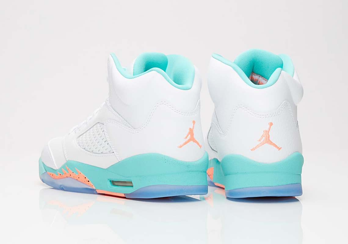 hot sale online a4540 0a16a Air Jordan 5 GG 440892-100 White Aqua Crimson   SneakerNews.com