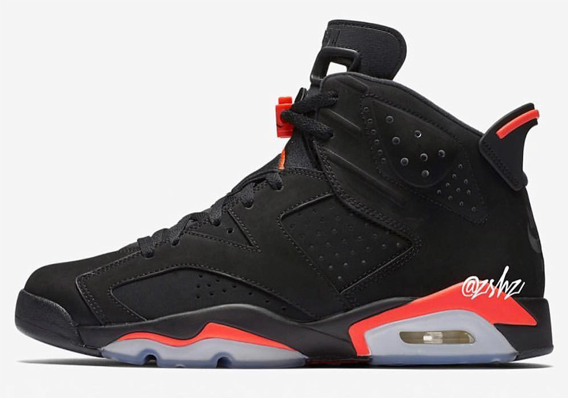 "Release Information For The Air Jordan 6 ""Black Infrared"" With Nike Air 56526e1e4e3aa"