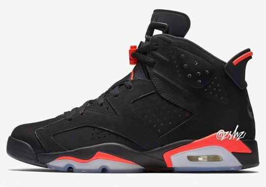 "Release Information For The Air Jordan 6 ""Black/Infrared"" With Nike Air"