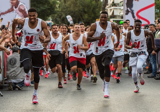 Giannis And Nike Host AntetokounBros Running Event In Athens