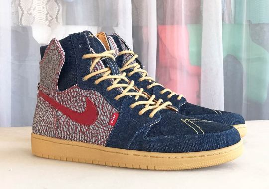 Here's What A Levi's x Air Jordan 1 High Could Look Like