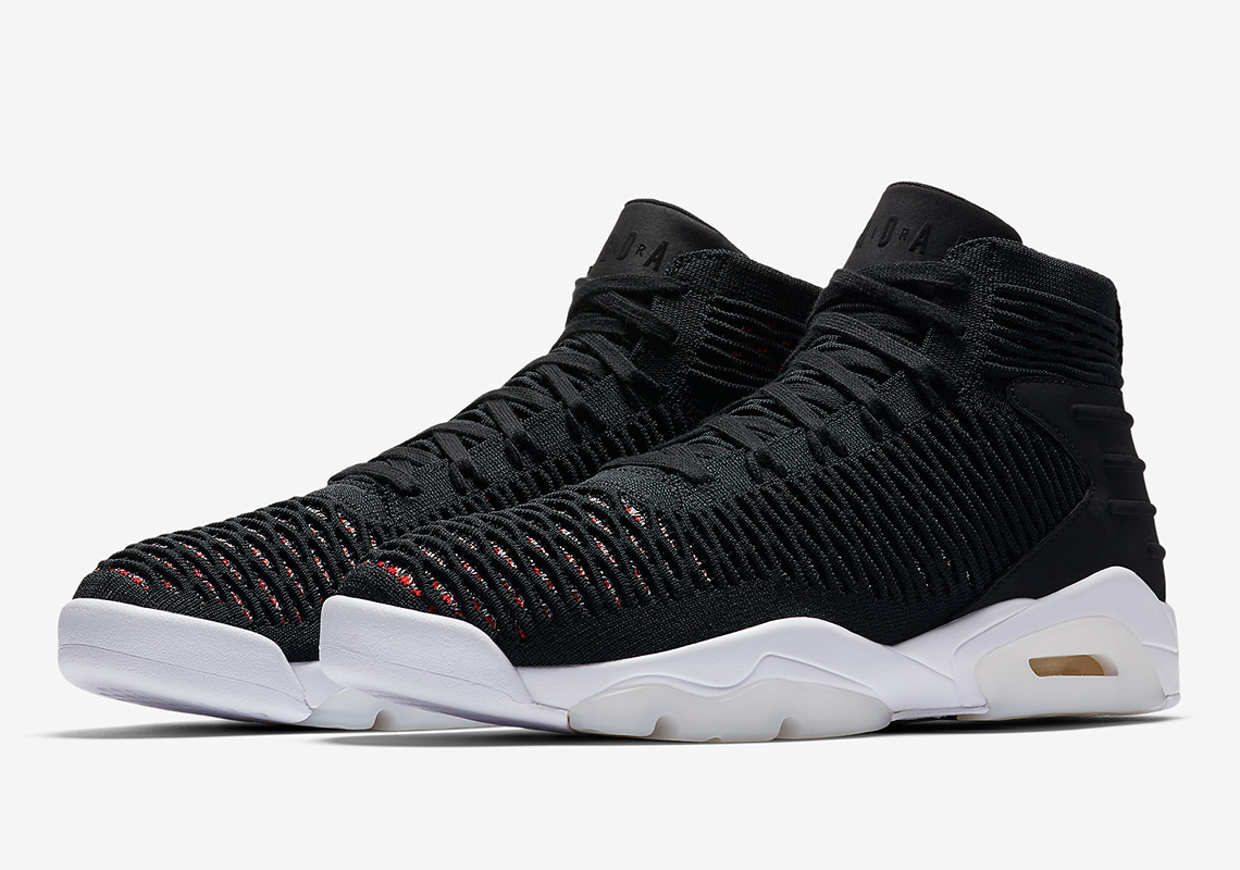 7b5ce9598d4d The Jordan Flyknit Elevation 23 Arrives In Black And Red Uppers