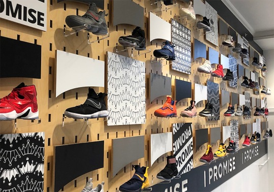 114 Pairs Of LeBron's Game Worn Shoes Are On Display At His I Promise School