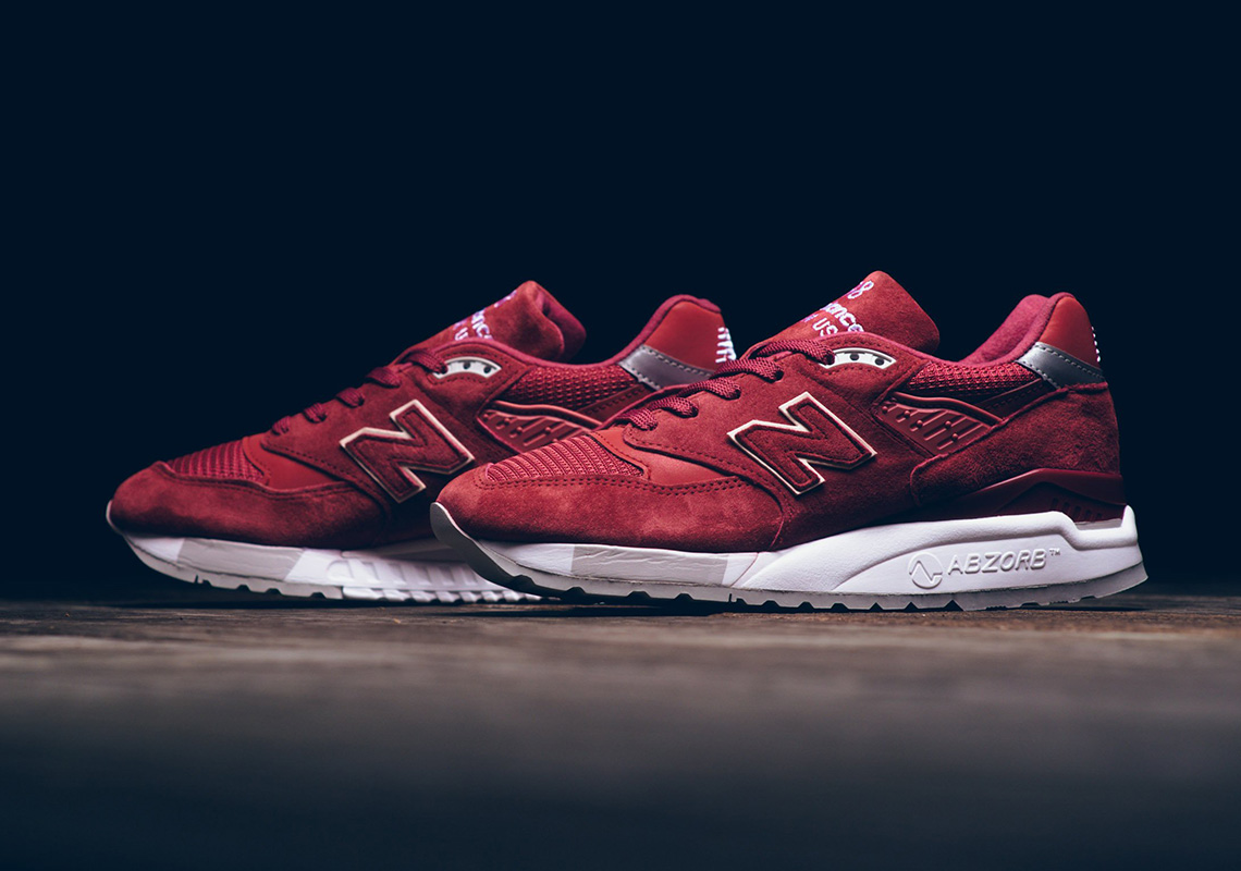 The New Balance 998 Returns In An Impeccable Red Suede For Women 5a4baf215d