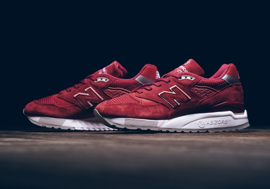 The New Balance 998 Returns In An Impeccable Red Suede For Women