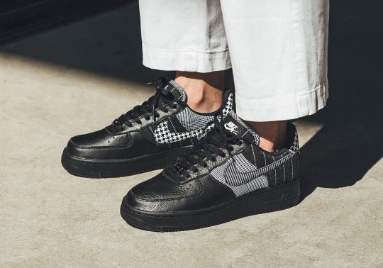 Tweed, Pinstripes, And Houndstooth Patterns Appear On The Nike Air Force 1