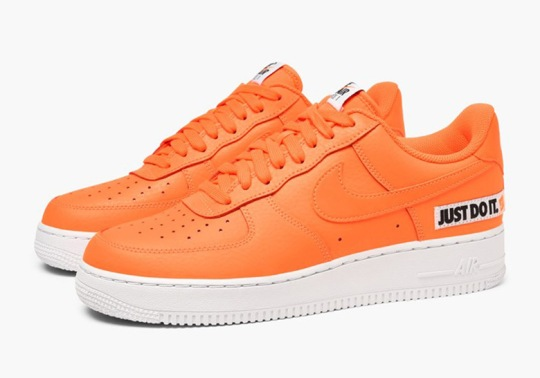 """Another Orange Version Of The Air Force 1 Low """"Just Do It"""" Is Available Now"""