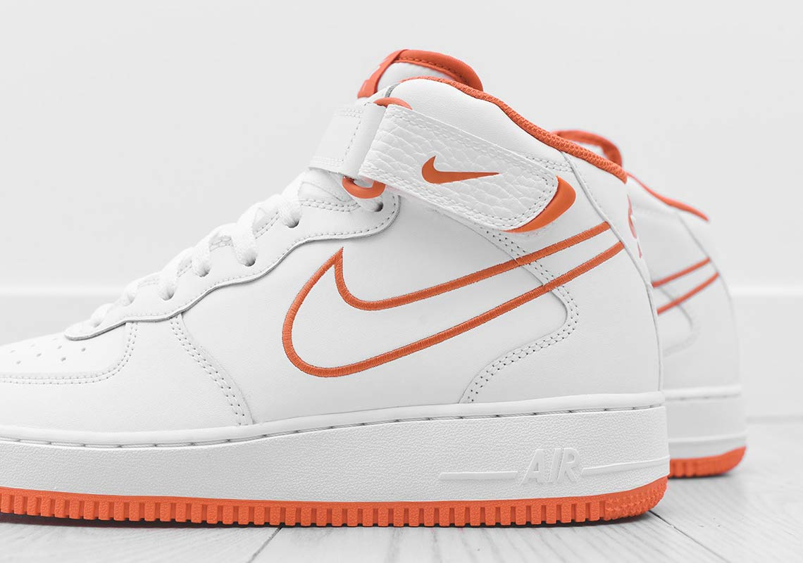 timeless design 20725 01422 Nike Air Force 1 Mid AQ8650-100 White Orange Available Now ...