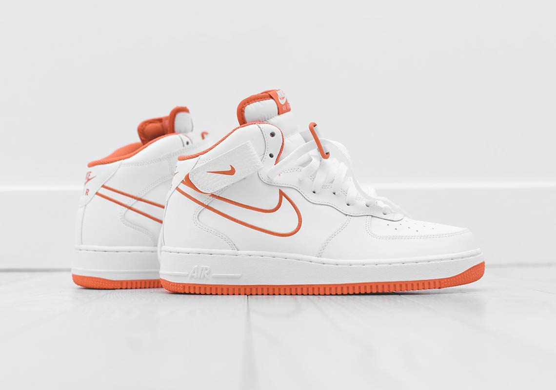Buy Orange And White Air Force Ones Nike Air Force 1 High  16ab8ddfa