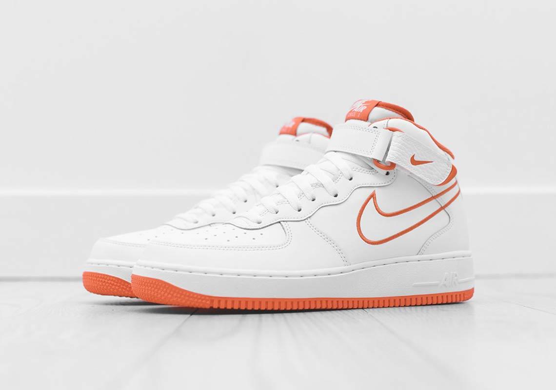 Nike Air Force 1 Mid BlancheOrange | AQ8650 100