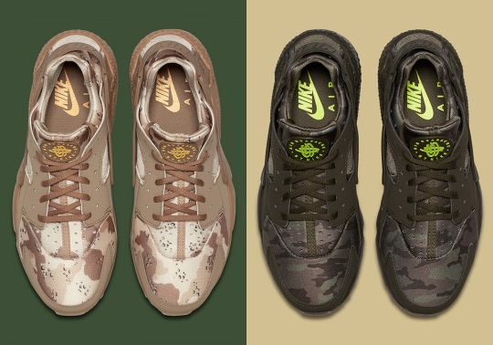 The Nike Air Huarache Arrives In Two Camo Print Styles