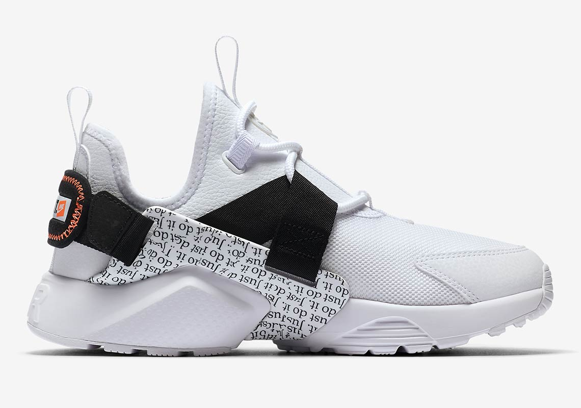 """ddc50f14c8382 Style Code  AO3140-800. Nike Huarache City Low """"Just Do It"""" Release Date   August 2018  120. Style Code  AO3140-100. Advertisement"""