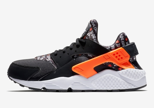 "The Nike Air Huarache ""Just Do It"" Features All-Over-Print On Neoprene"